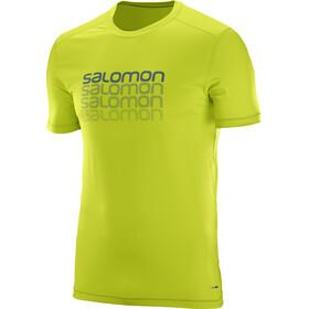 Salomon Cosmic Logo SS Shirt Men lime punch